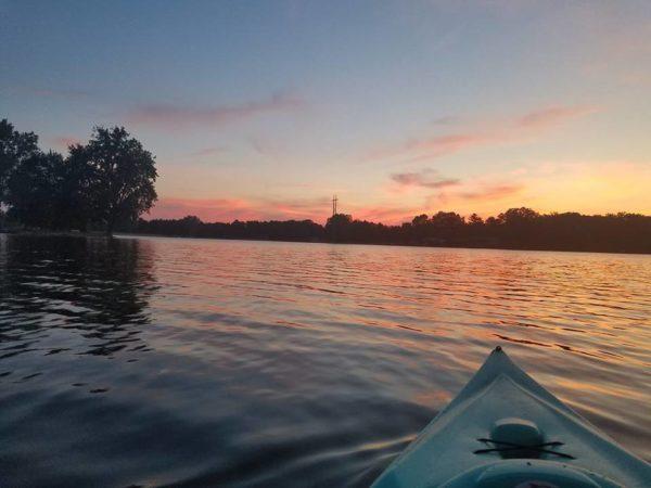Lake Kayak Sunset