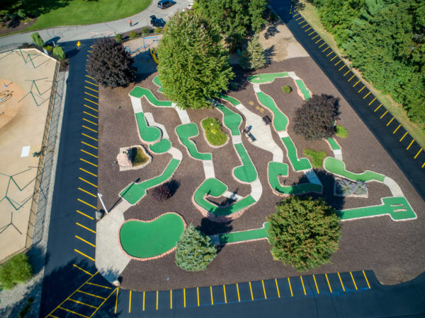 Aerial Photo of new mini golf carpet