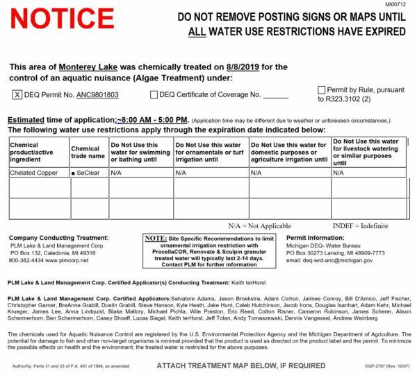 PLM Lake Monterey Treatment 08-08-19