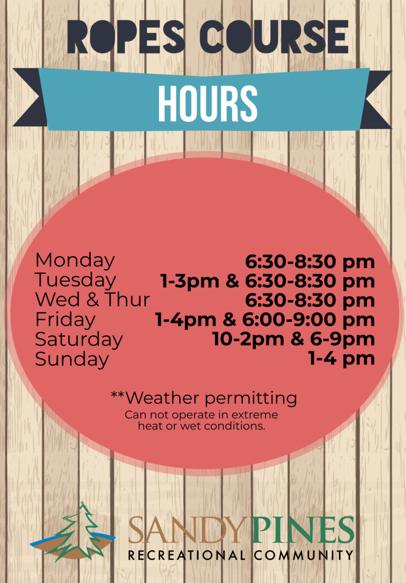 Ropes Course Hours 06-24-20